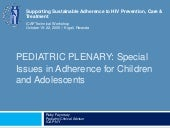 Adherence for Pediatrics: Plenary