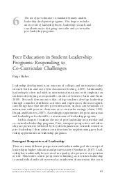 Peer education in students leadersh...