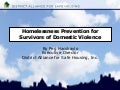 Homelessness Prevention for Survivors of Domestic Violence by Peg Hacskaylo