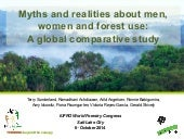 Myths and realities about men, women and forest use: a global comparative study