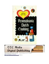 Pennsylvania Dutch Cooking  Cookbook