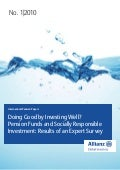 Doing Good by Investing Well? Pension Funds and Socially Responsible Investment