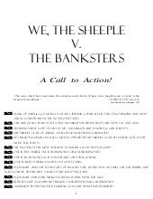 We, the Sheeple V. the Banksters