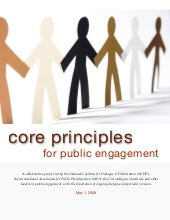 Core Principles for Public Engagement