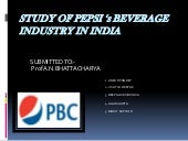 Pepsi-its industry in india