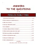 Peralta Family Tree - Q&A Book