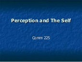 Perception and the Self
