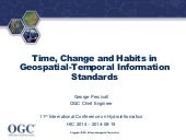 Time, Change and Habits in Geospatial-Temporal Information Standards