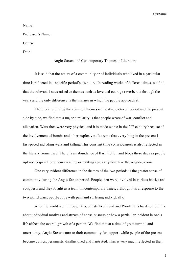 example of essay report