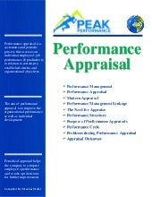 Performance Apraisal note