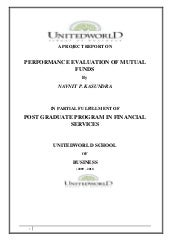 Performance evaluation of mutual funds
