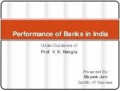 Performance of banks in india 2011