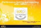 Performance testing and reporting with JMeter