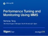 MongoDB performance tuning and monitoring with MMS