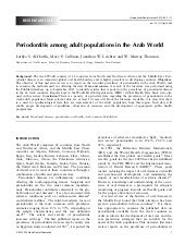 Periodontitis among adult populatio...