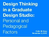 Design Thinking in a Graduate Desi...