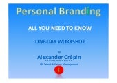 Personal branding workshop: All you...