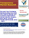 Personal Care Packaging Market For skin care, hair care, bath & shower and cosmetics applications   global industry analysis, size, share, growth, trends and forecast, 2013 - 2019