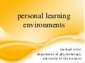 Personal learning environments