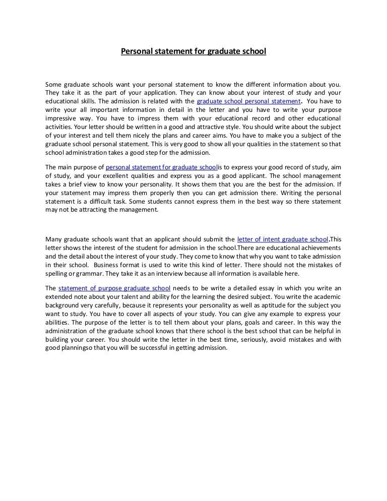 Personal statement graduate school research – Personal Statement for Graduate School