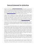 [PDF]Writing Personal Statements for Scholarship Applications
