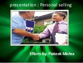 PPT on Personal selling