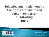 Person-to-Person Fundraising Tools