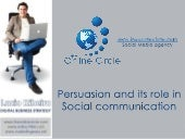 Persuasion in Social Media