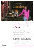 Rural Poverty in Peru
