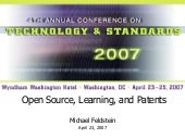 PESC 2007: Open Source, Learning, a...