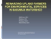 Rewarding upland farmers for enviro...