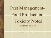 Pests.Toxicology.Food Notes
