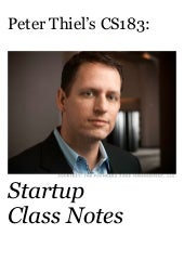 Peter thiel's cs183