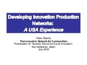 Developing Innovation Production Ne...
