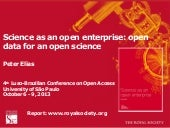 Science as open enterprise
