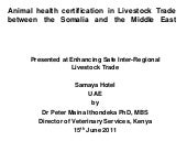 Animal health certification in live...