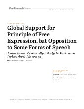 Pew Research Center - Global Support for Principle of Free Expression, but Opposition to Some Forms of Speech