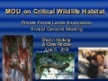 Critical Wildlife Habitat MOU presentation