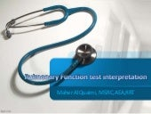 Pulmonary functions test