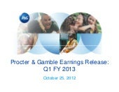 2013 Q1 Earnings