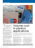 Volume Costs in Plastic Applications