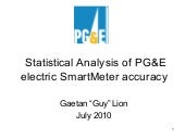 PGE electric SmartMeter analysis
