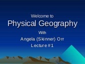 GEOG100--Lecture 01--What is Geogra...