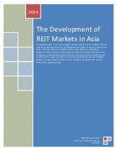 The development of asian reit markets