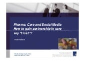 Pharma, care and social media how t...