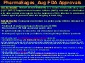 Pharma sages aug fda approvals