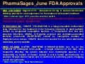 Pharma sages june fda approvals