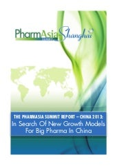 "PharmAsia Summit2013 report ""In sea..."