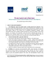 Inclusive Business Philippines - Fi...