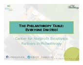 The Philanthropy Table: Everyone Invited!